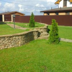 Дизайн подпорной стенки, подпорная стенка из камня
